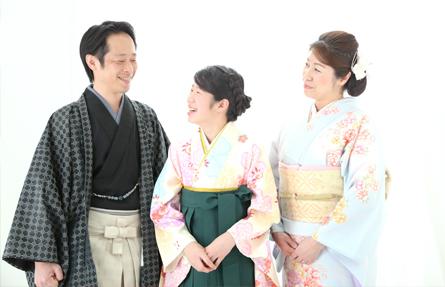小学校卒業記念のご家族撮影写真